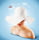 Łozinowy kapelusz Obraz Royalty Free