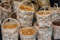 Łozinowy kosz handmade Zdjęcie Stock