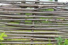 Łozinowy ogrodzenie Zdjęcie Stock