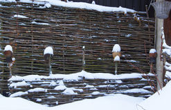 Łozinowy ogrodzenie Obraz Stock