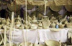 Łozinowych koszy sklep Fotografia Royalty Free