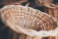 Łozinowych koszy tekstura Zdjęcia Stock