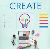 Oznakujący innowację Kreatywnie Inspiruje pojęcie zdjęcia royalty free