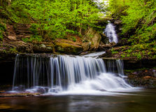 Ozone Falls on Kitchen Creek, in Glen Leigh, Ricketts Glen State Park Stock Images