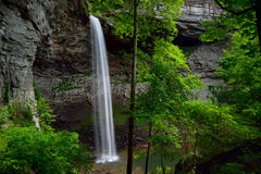 Ozone Falls in Westel, TN USA. Ozone Falls is a 110 foot (33.5 m) waterfall in Westel, Tennesee, USA Royalty Free Stock Image