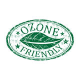 Ozone friendly grunge rubber stamp Royalty Free Stock Images