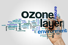 Ozone layer word cloud Royalty Free Stock Photo