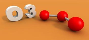 Ozone molecule. A 3d render of an ozone molecule Royalty Free Stock Photo