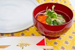 Ozoni/die japanische Suppe des neuen Jahres Lizenzfreies Stockfoto