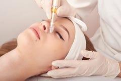 Ozonu traktowanie z kosmetologii apparat Physiotheraphy Podnośny skutek Ozon twarzy skóry odmładzanie, odzyskiwanie zdjęcie stock