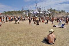 Ozora psychedelic music festival, Hungary Stock Image