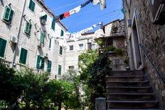 Ozy uteplats för Ð-¡ i Kroatien, europeisk stil Arkivbilder
