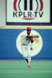 Ozzie Smith St. Louis Cardinals. Hall of Famer and former St. Louis Cardinal shortstop Ozzie Smith.  (Scanned from color slide Royalty Free Stock Photo