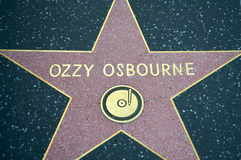 Ozzy Osbourne. 's star at the Hollywood Walk of Fame Royalty Free Stock Photo