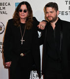 Ozzy Osbourne e Jack Osbourne Fotografia Stock