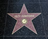 Ozzy Osbourne`s Star, Hollywood Walk of Fame - August 11th, 2017 - Hollywood Boulevard, Los Angeles, California, CA. USA Stock Photography
