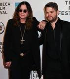 Ozzy Osbourne y Jack Osbourne Foto de archivo