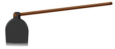 Pá com vara de madeira Imagens de Stock