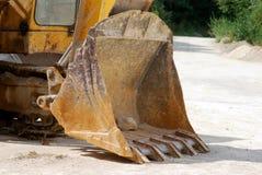 Pá da máquina escavadora Imagem de Stock