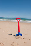 Pá da praia Imagem de Stock