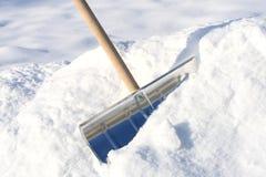 Pá da remoção de neve fotografia de stock