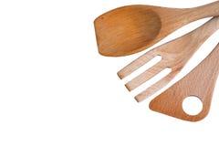 Pá de madeira da cozinha imagem de stock royalty free