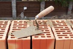 Pá de pedreiro da construção Imagem de Stock