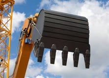 Pá de trabalho da máquina escavadora Foto de Stock Royalty Free
