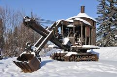 Pá de vapor histórica da mineração em Alaska Foto de Stock