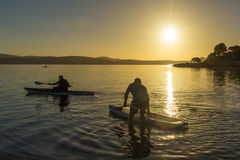 Pá do amanhecer na luz impressionante dourada Foto de Stock
