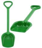 Pá plástica verde do brinquedo Imagem de Stock