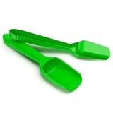 Pá verde do brinquedo, pá plástica na ilustração 3D branca Foto de Stock