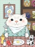 Página adorable del colorante del gatito libre illustration