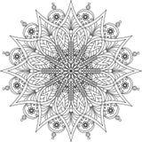 Página adulta da coloração da mandala Imagem de Stock Royalty Free