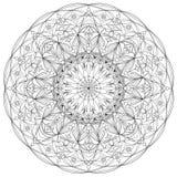 Página adulta da coloração da mandala bonita do círculo Imagens de Stock Royalty Free