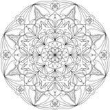 Página adulta da coloração da mandala bonita do círculo Imagens de Stock