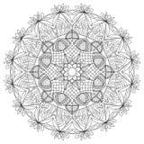 Página adulta da coloração da mandala do círculo Fotografia de Stock Royalty Free