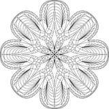 Página adulta da coloração da mandala do círculo Imagens de Stock
