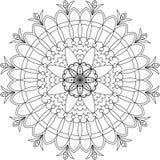 Página adulta da coloração de Zentangle, mandala Fotografia de Stock Royalty Free