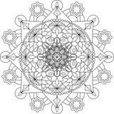 Página adulta da coloração de Zentangle, mandala Imagens de Stock