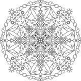 Página adulta da coloração de Zentangle, mandala Fotos de Stock