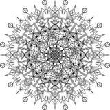 Página adulta da coloração do zentangle bonito, mandala Foto de Stock
