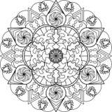 Página adulta da coloração, mandala Imagens de Stock Royalty Free