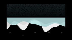 Página animada abstracta del informe de los datos stock de ilustración