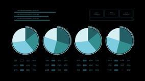 Página animado abstrata do relatório dos dados ilustração stock