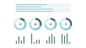 Página animado abstrata do relatório dos dados ilustração do vetor