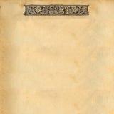 Página antigua Imagenes de archivo