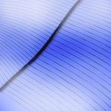 Página azul curvada Foto de Stock