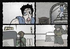 Página cômica ilustração stock