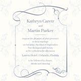 Página clássica do projeto Cartões do molde Convite do casamento Foto de Stock Royalty Free